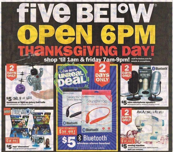 Five Below Black Friday Ad 2016 - Pg 1