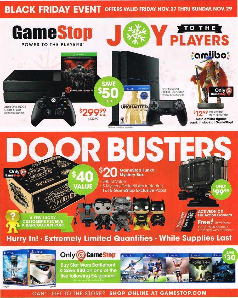 GameStop Black Friday 2015 Ad Page 1