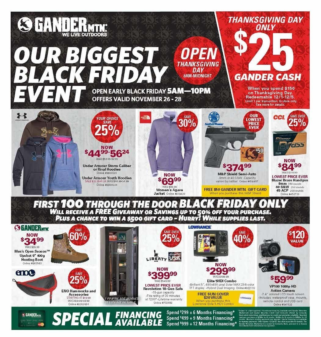 Gander Mountain Black Friday 2015 Ad Page 1