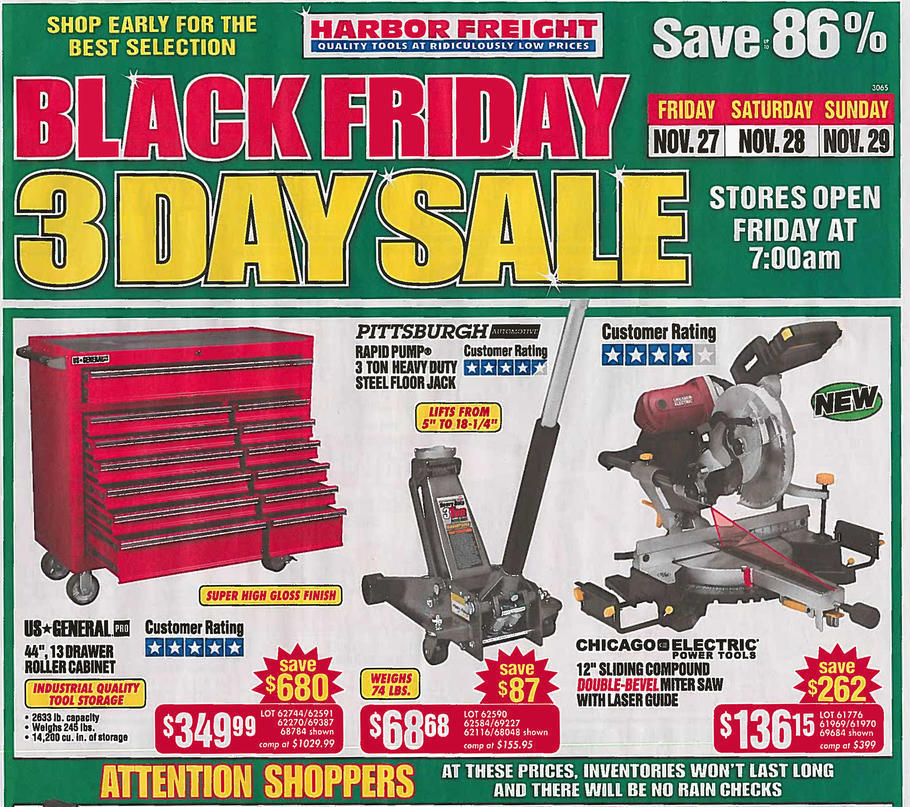 Harbor Freight Black Friday 2015 Ad Page 1