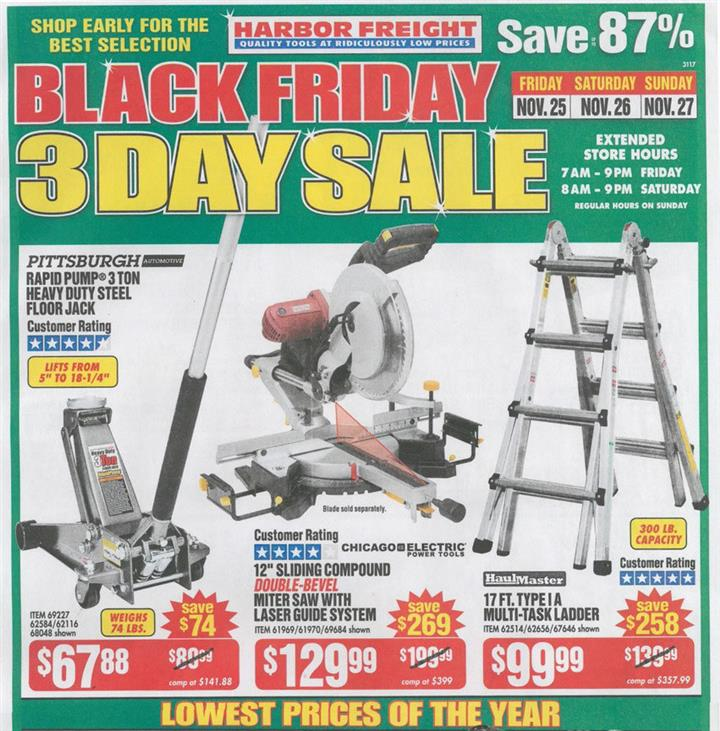 Harbor Freight Black Friday Ad 2016 - Pg 1