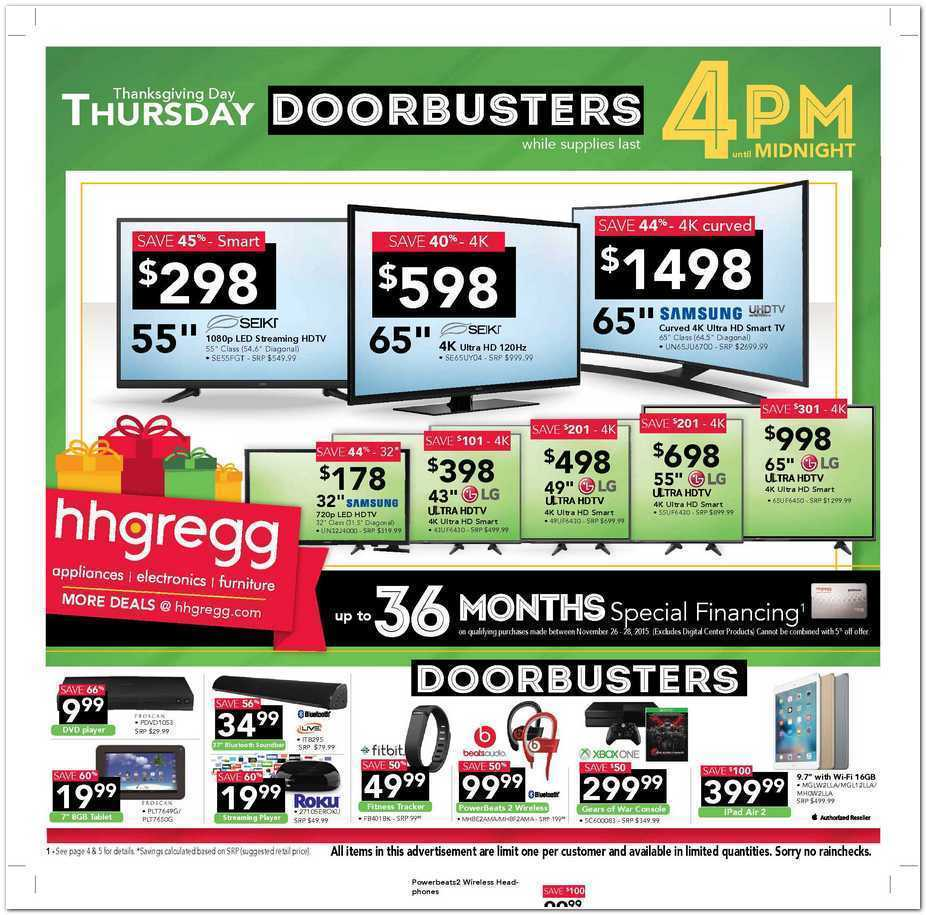 hhgregg Black Friday 2015 Ad Page 1