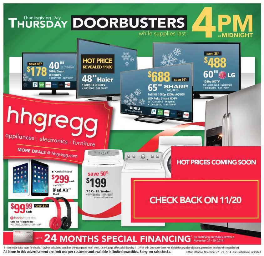 hhgregg Black Friday Ad 2014 Pg 1