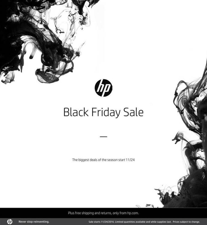 HP Home Store Black Friday Ad 2016 - Pg 1