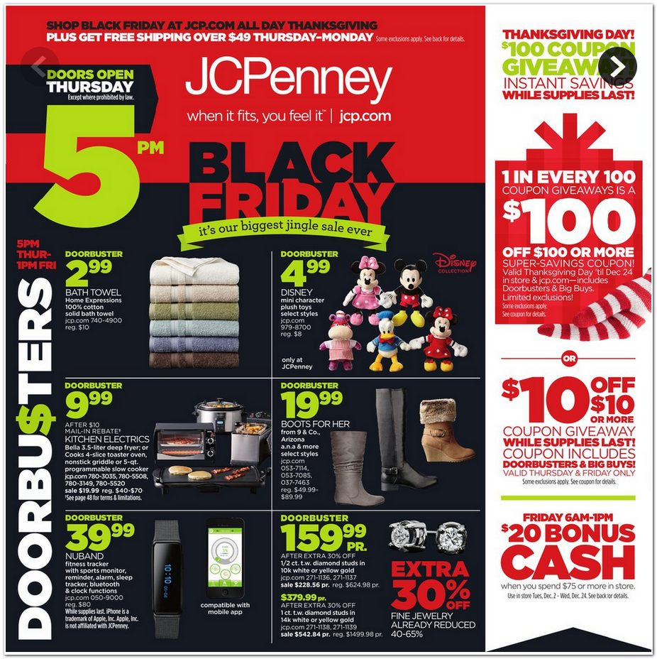 JCPenney Black Friday Ad 2014 Pg 1