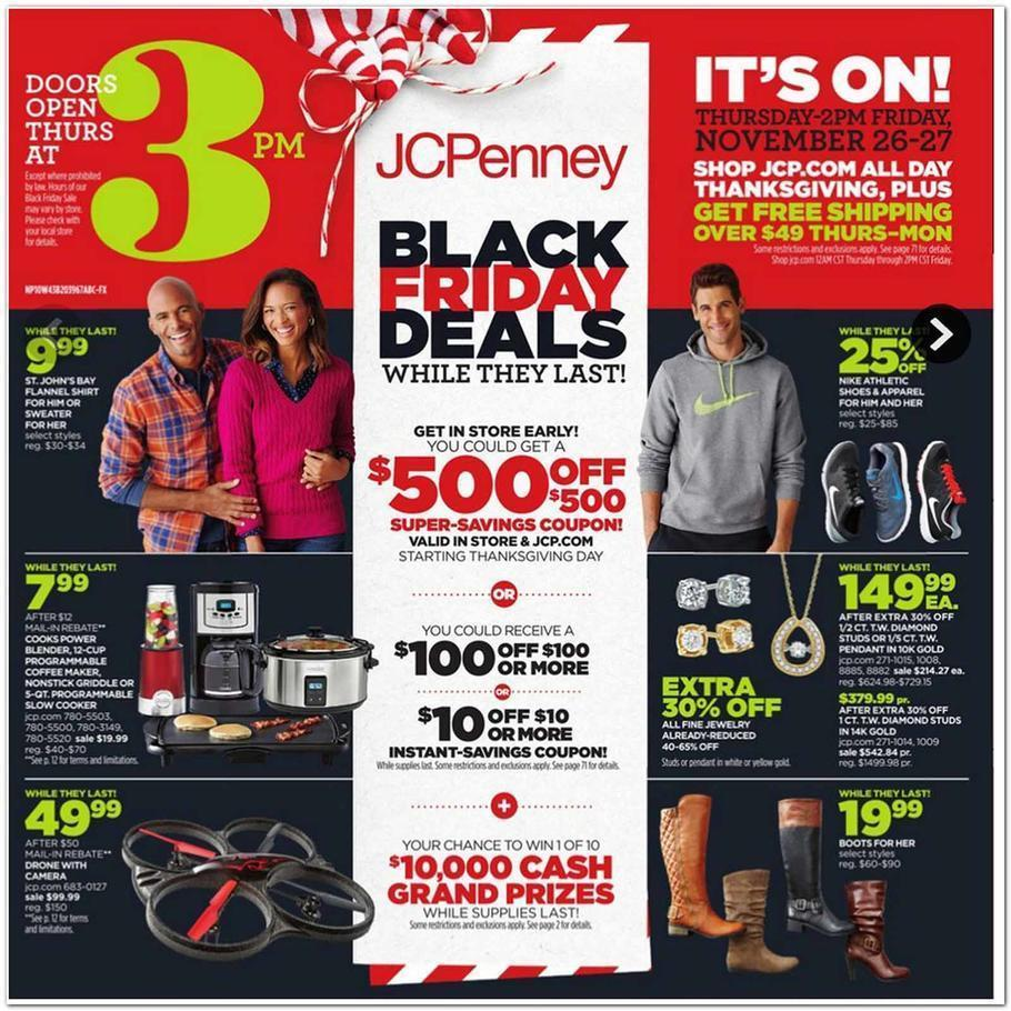 JCPenney Black Friday 2015 Ad Page 1