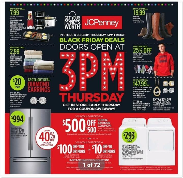 JCPenney Black Friday Ad 2016 - Pg 1