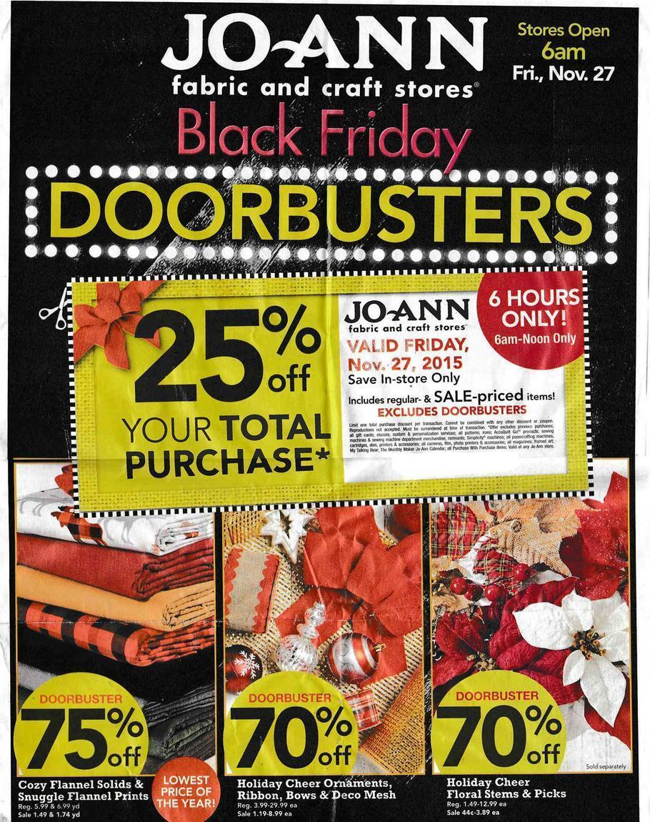 Jo Ann Fabric Black Friday 2015 Ad Page 1