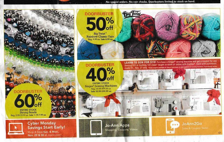 Jo Ann Fabric Black Friday 2015 Ad Page 2