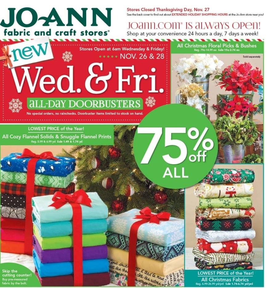 JoAnn Fabric Black Friday Ad 2014 Pg 1