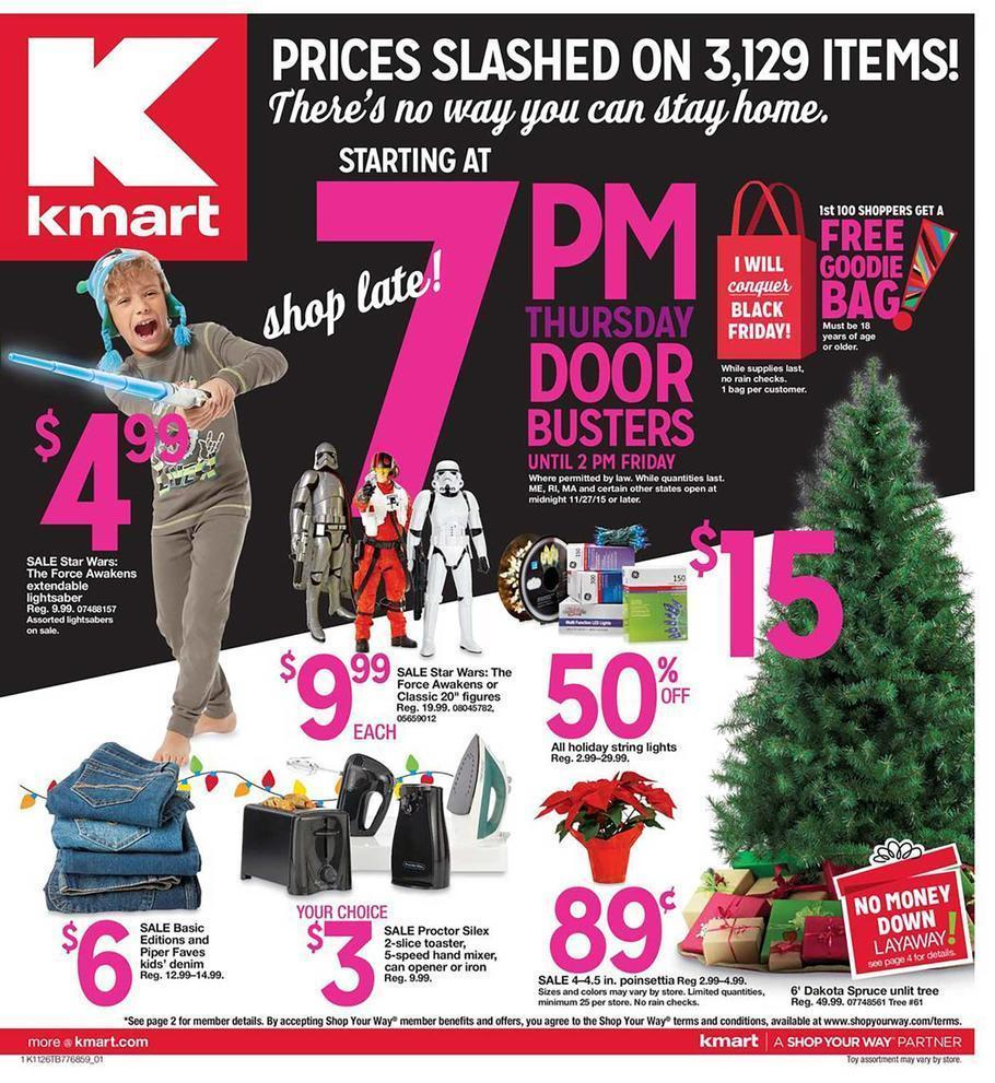 Kmart Black Friday Preview 2015 Ad Page 1