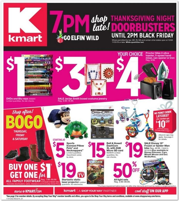 Kmart Black Friday 2016 Ad - Pg 1