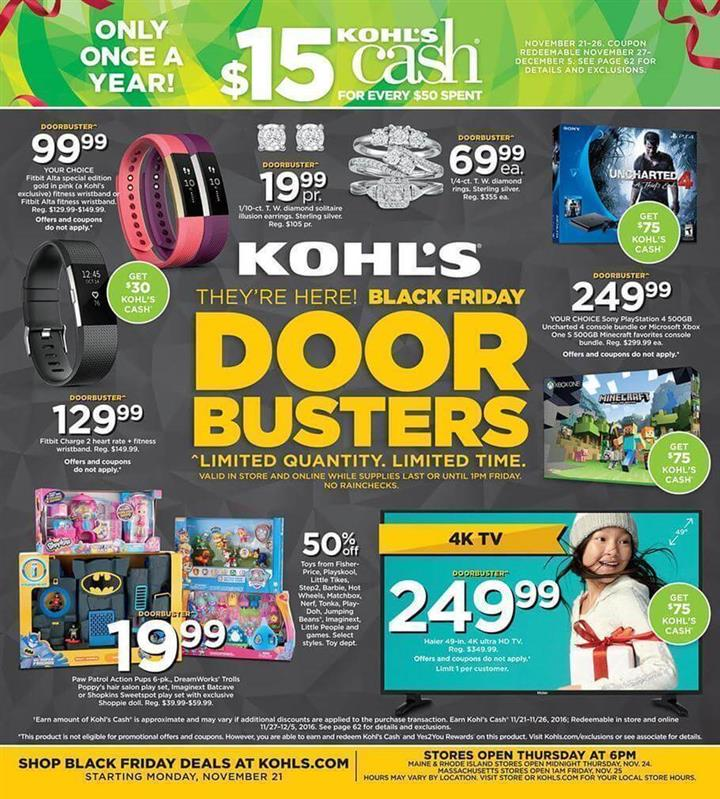 Kohls Black Friday 2016 Ad - Pg 1