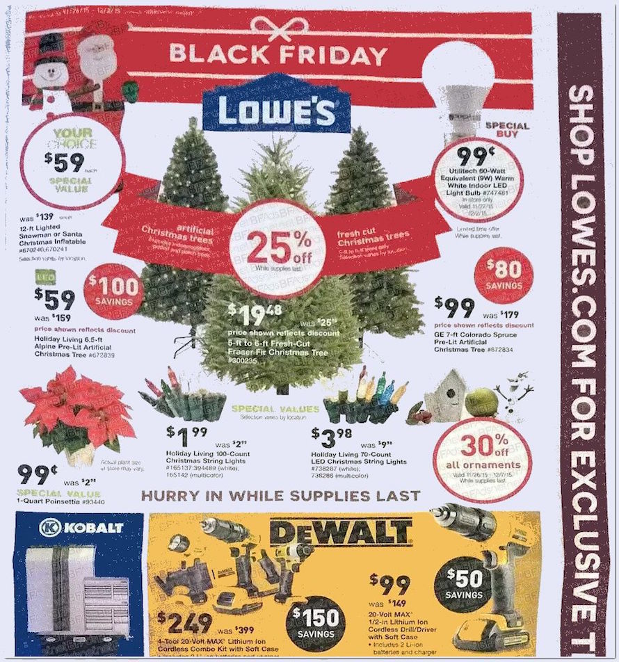 Lowe's Black Friday 2015 Ad Page 1