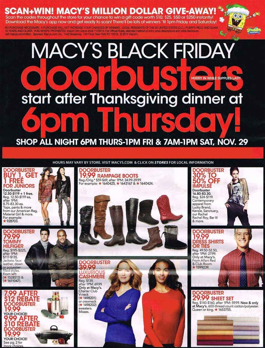 Macys Black Friday Ad 2014 Pg 1
