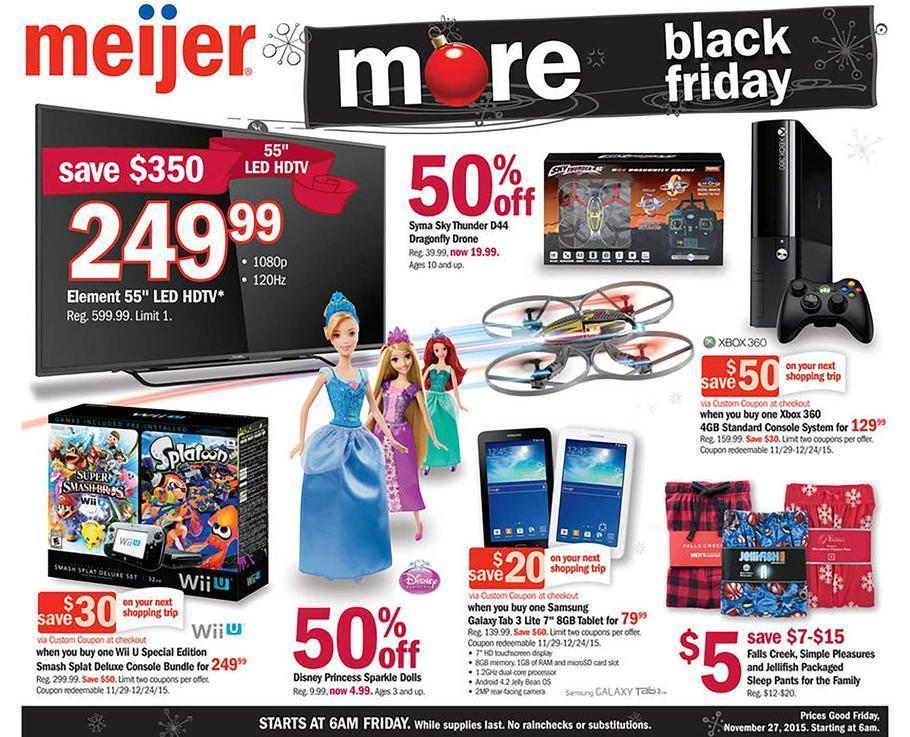 Meijer Black Friday 2015 Ad Page 1