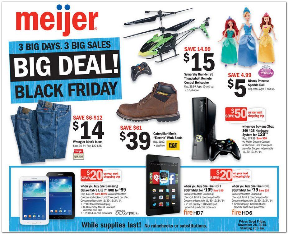 Meijer Black Friday Ad 2014 Pg 1