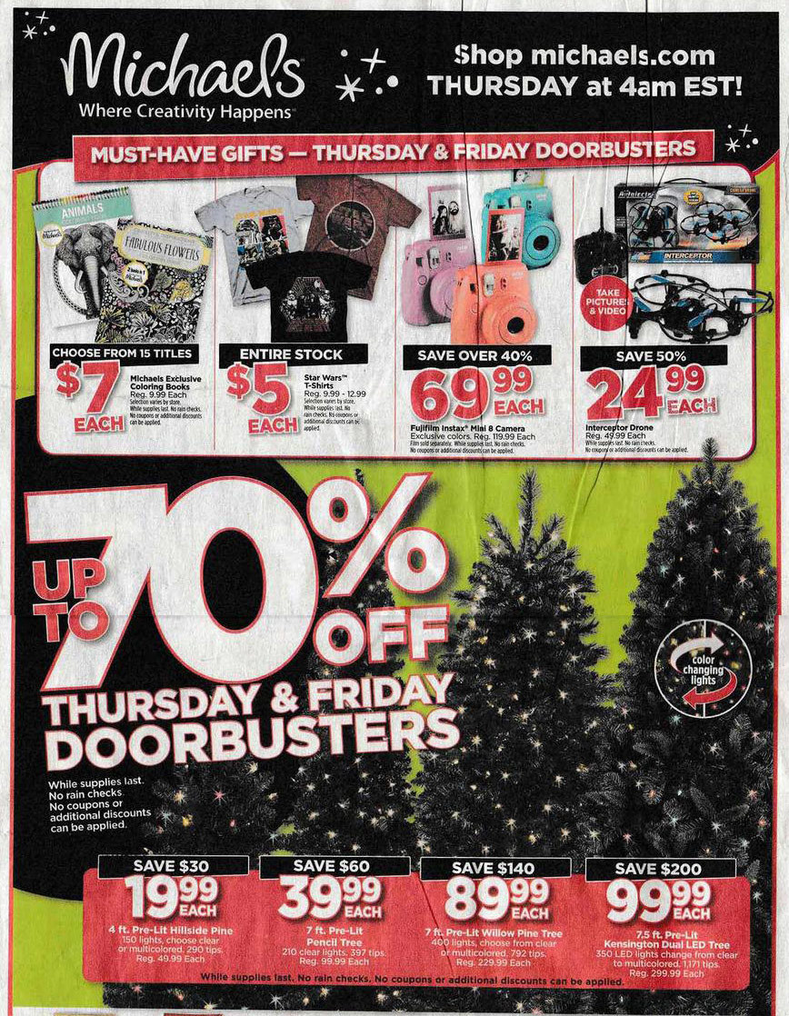 Michaels Black Friday 2015 Ad Page 1