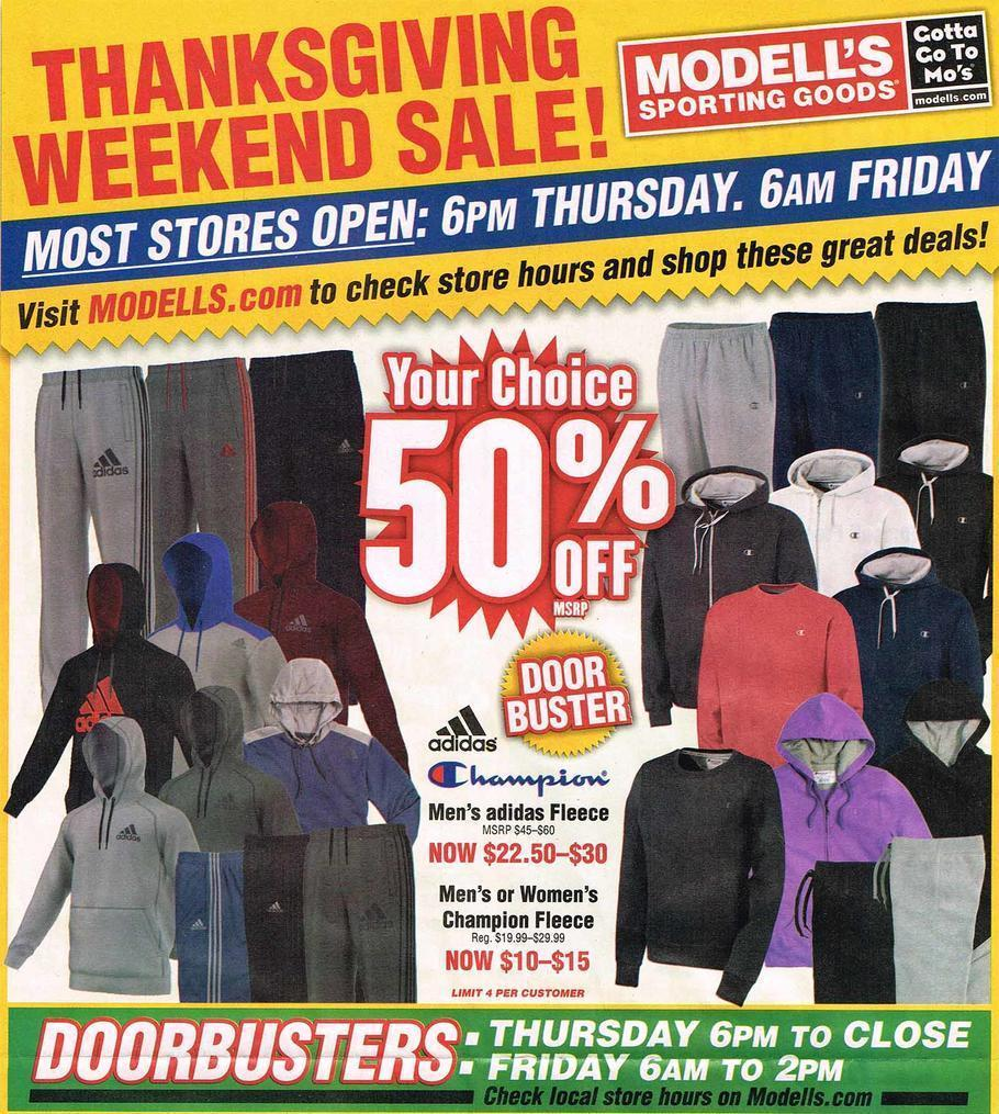 Modell's Sporting Goods Black Friday 2015 Ad Page 1