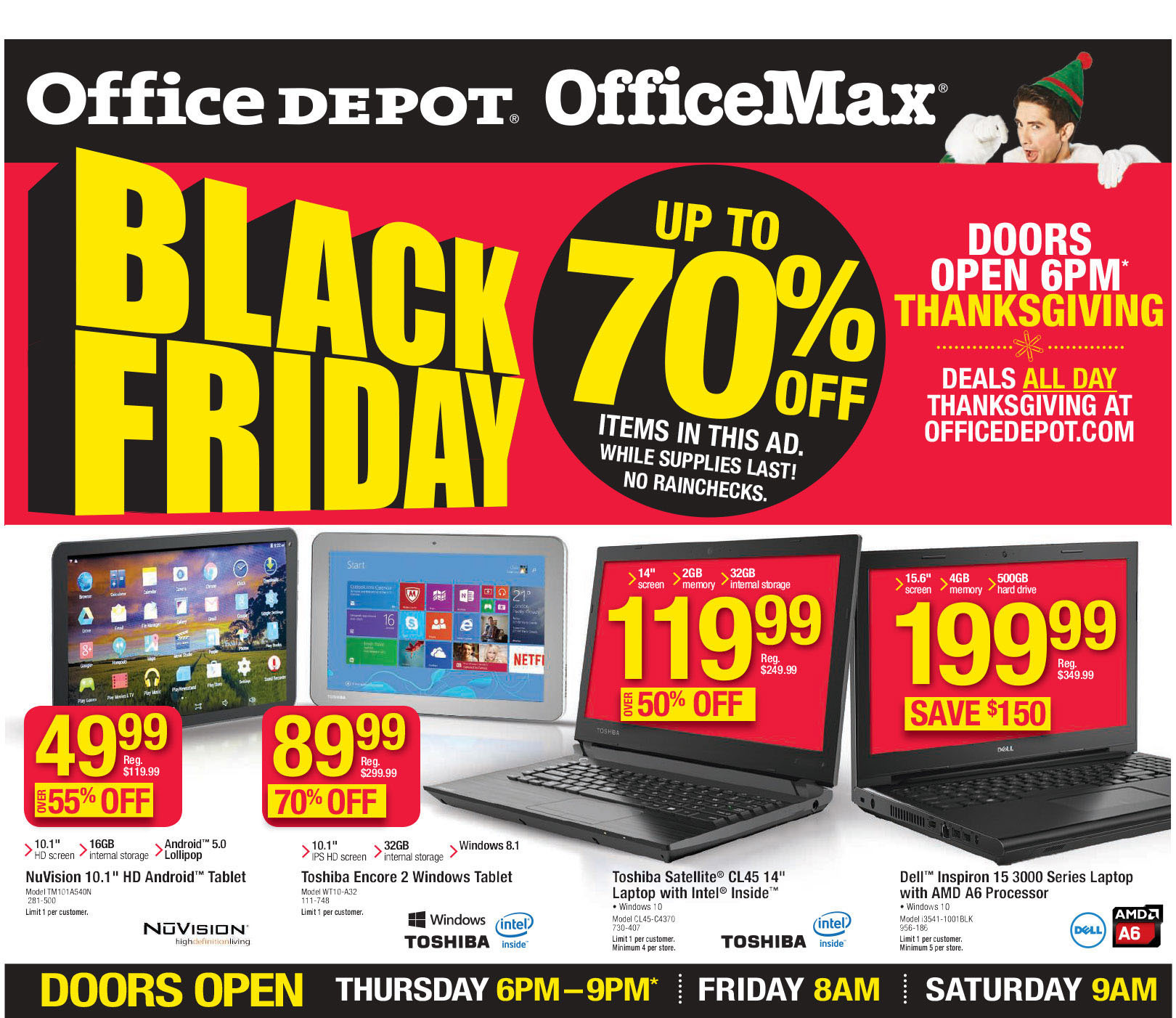 Office Depot / Office Max Black Friday 2015 Ad Page 1