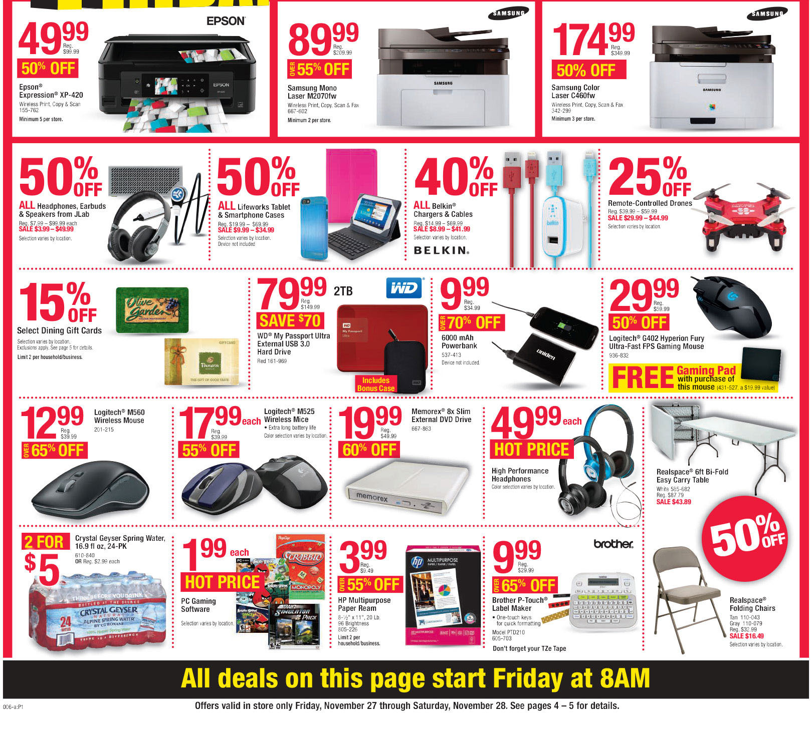 Office Depot / Office Max Black Friday 2015 Ad Page 12