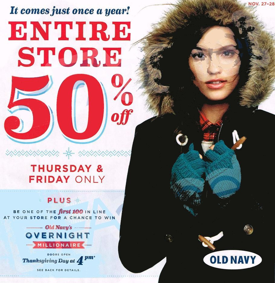 Old Navy Black Friday Ad 2014 Pg 1