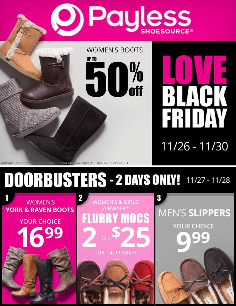 Payless Shoe Source Black Friday Sale