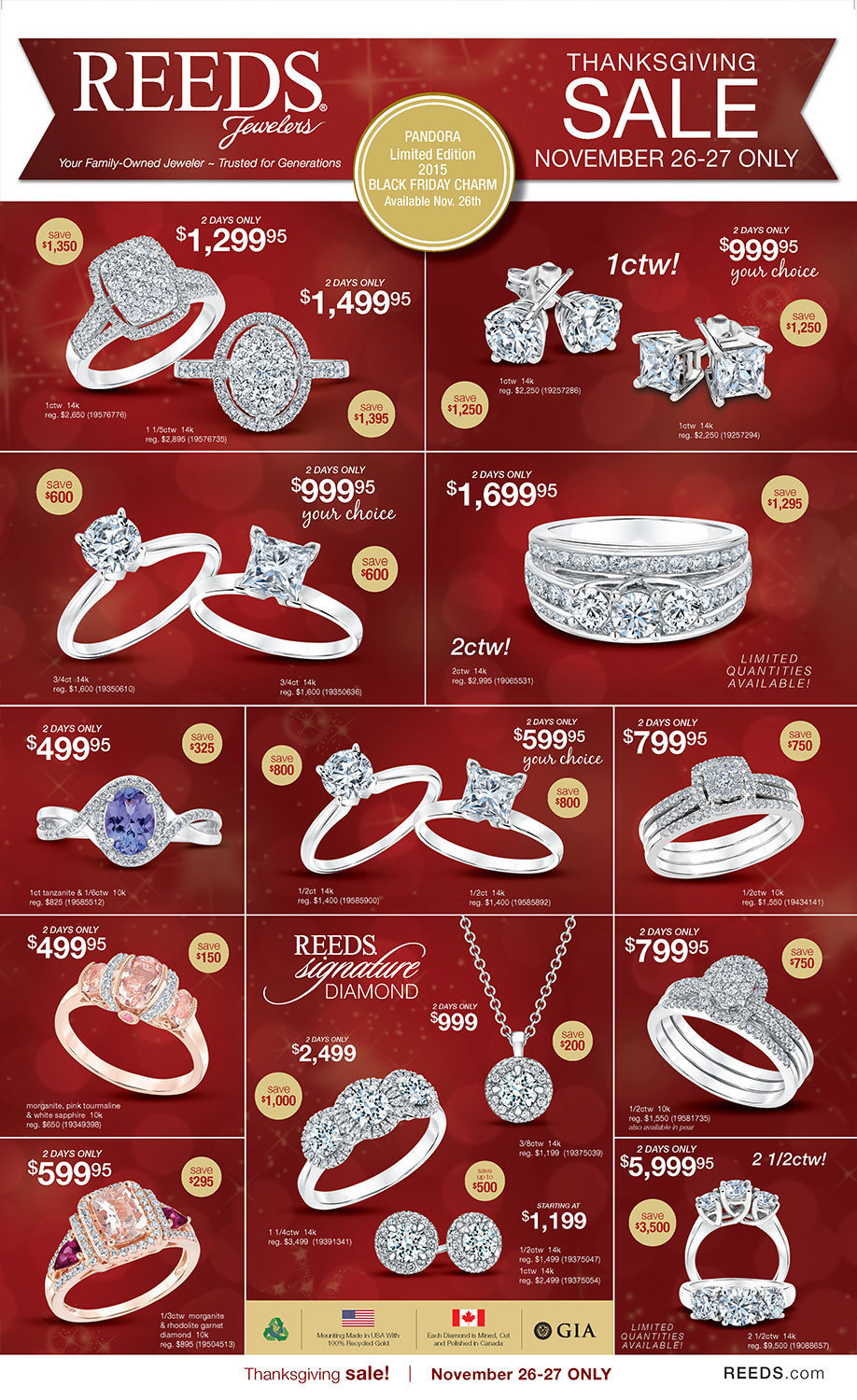 Reeds Jewelers Black Friday 2015 Ad Page 1