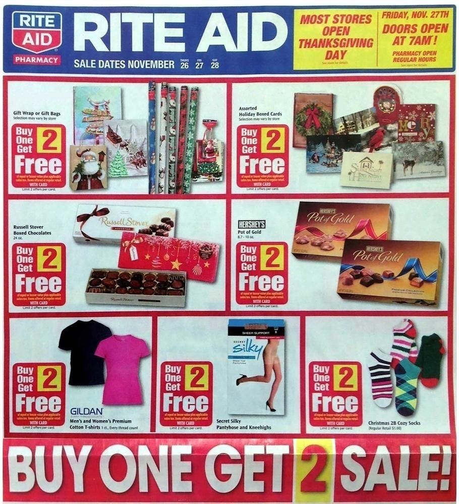 Rite Aid Black Friday 2015 Ad Page 1