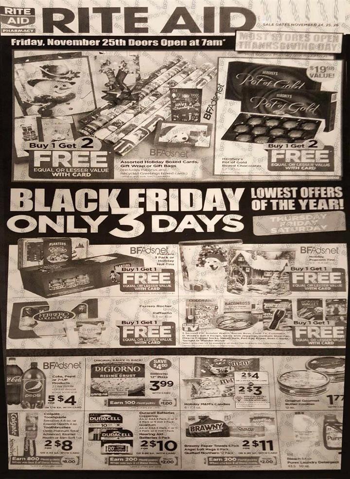 Rite Aid Black Friday Ad 2016 - Pg 1