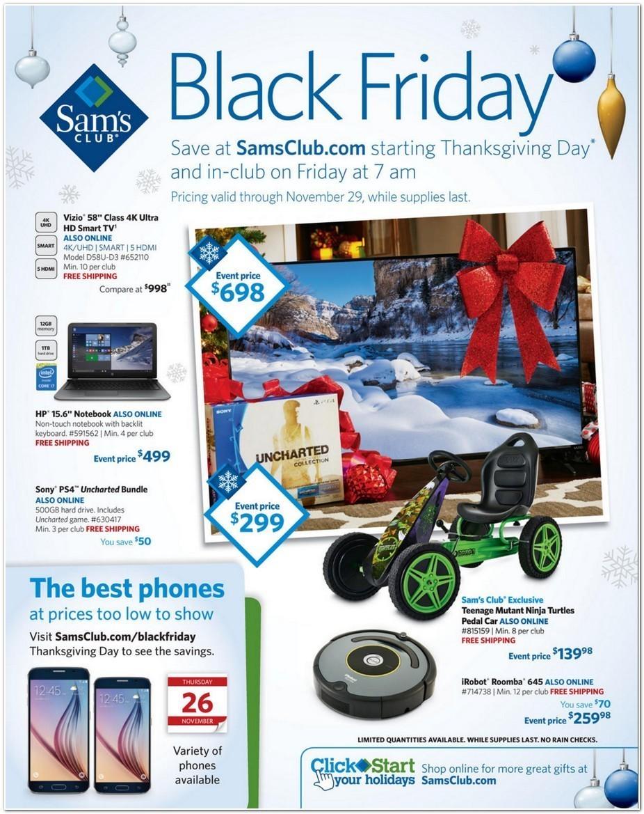 Sams Club Black Friday 2015 Ad Page 1
