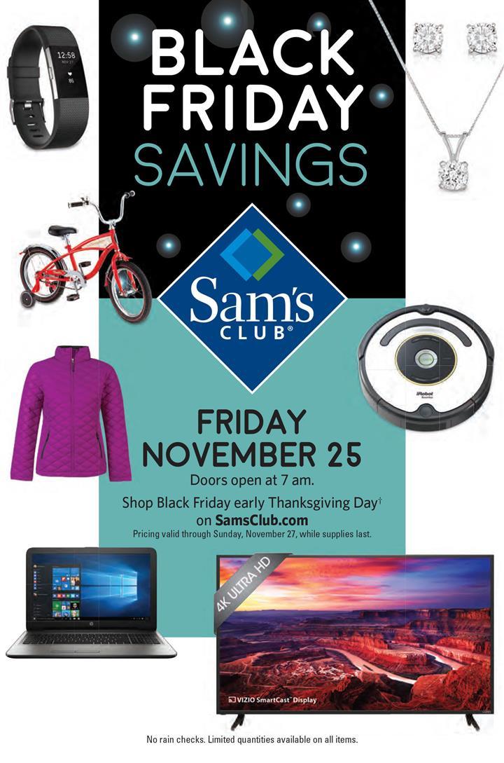 Sams Club Black Friday Ad 2016 - Pg 1