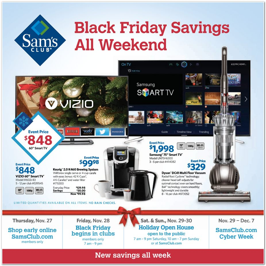 Sams Club Black Friday Ad 2014 Pg 1
