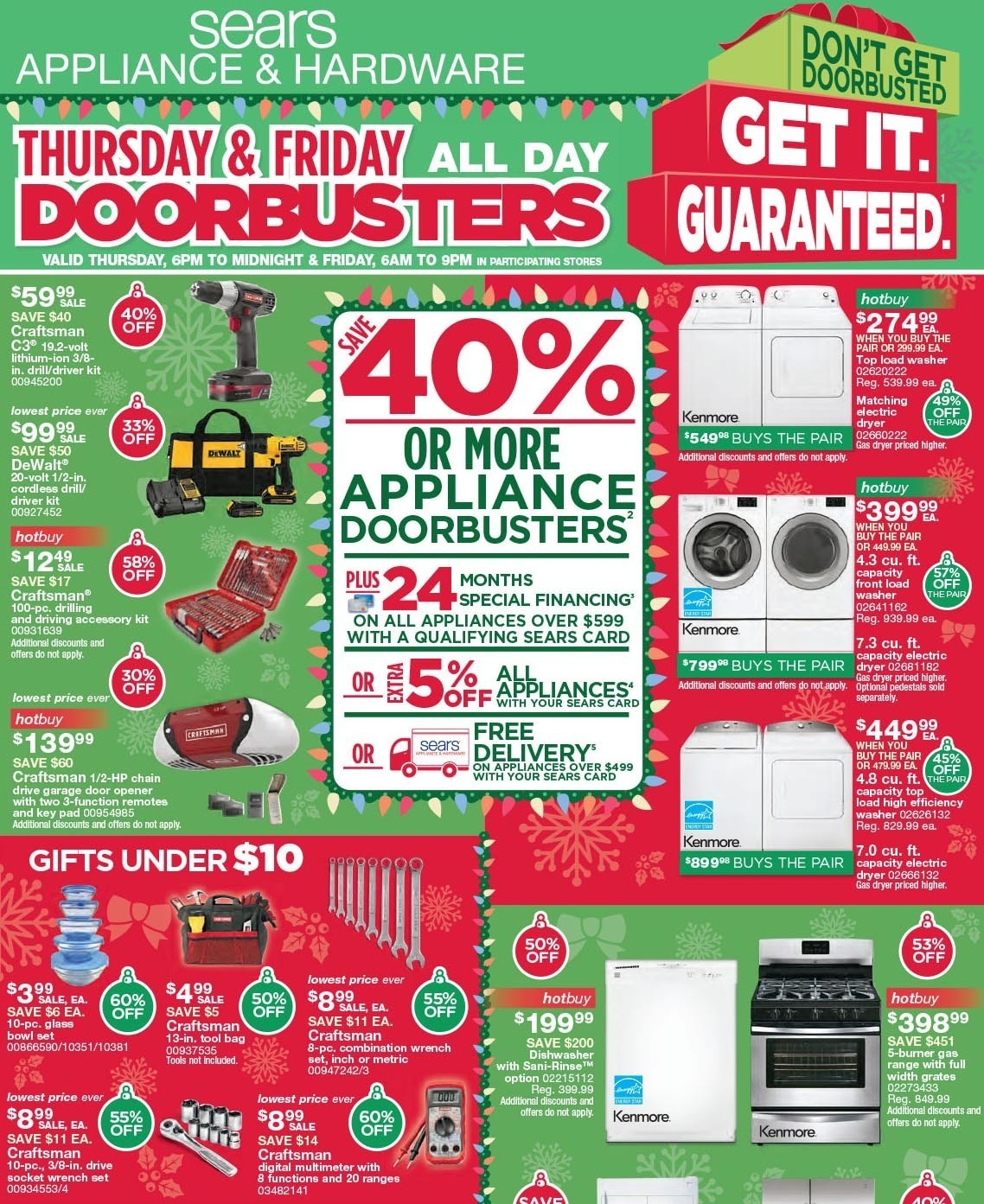Sears Appliance and Hardware Black Friday 2015 Ad Page 1
