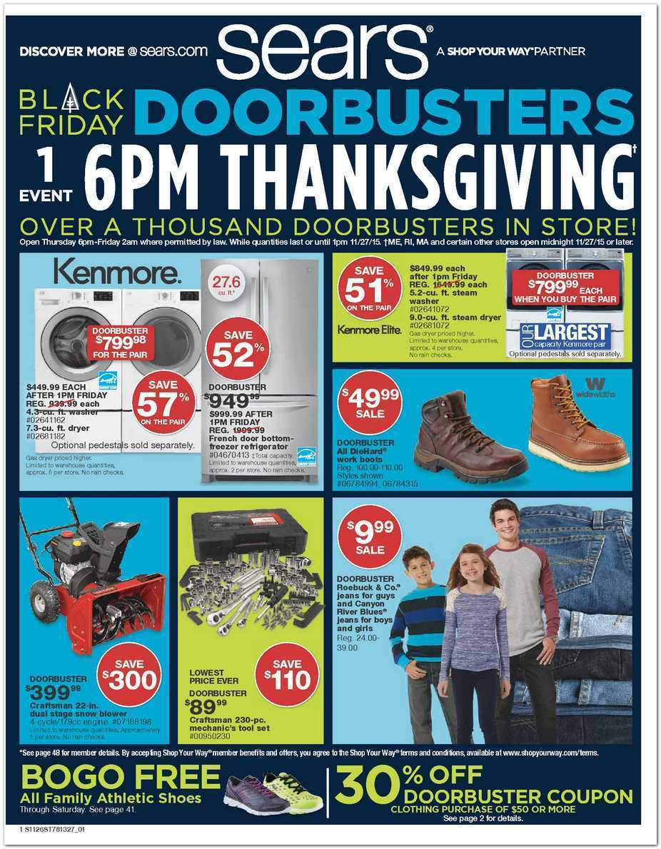 Sears Black Friday 2015 Ad Page 1