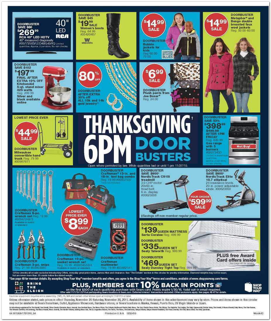 Sears Black Friday 2015 Ad Page 64