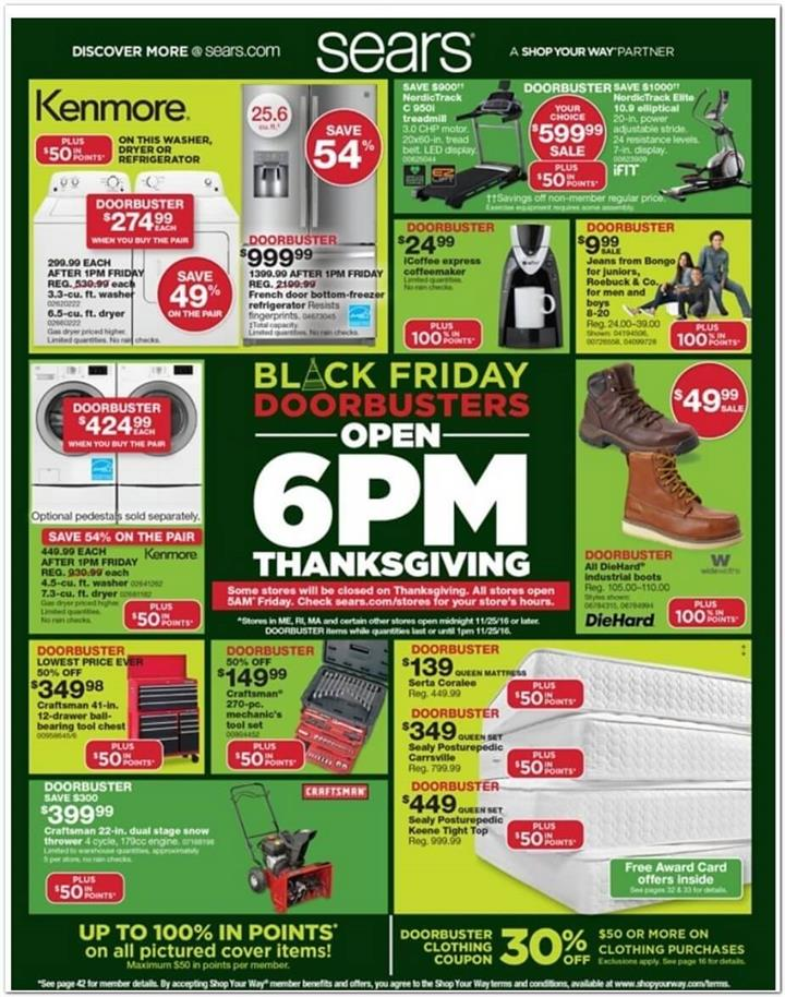 Sears Black Friday 2016 Ad - Pg 1