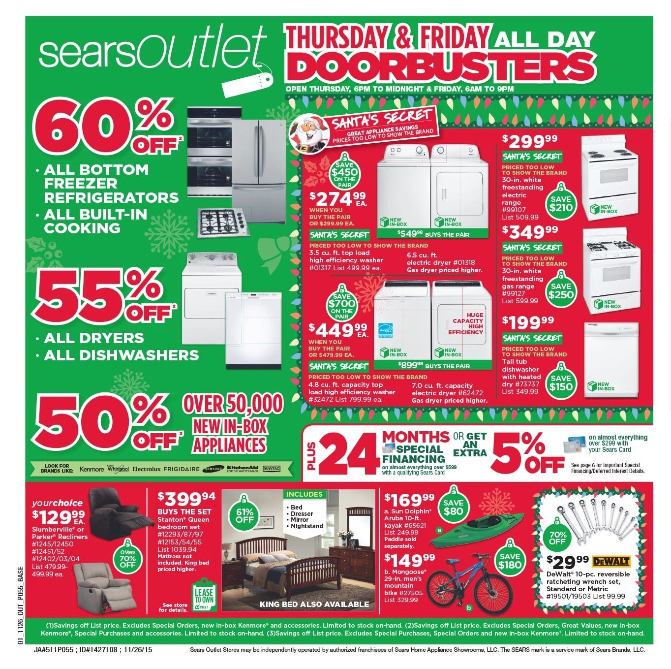 Sears Outlet Black Friday 2015 Ad Page 1