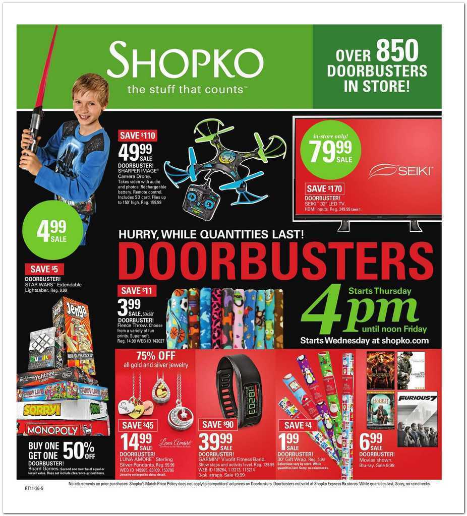 Shopko Black Friday 2015 Ad Page 1