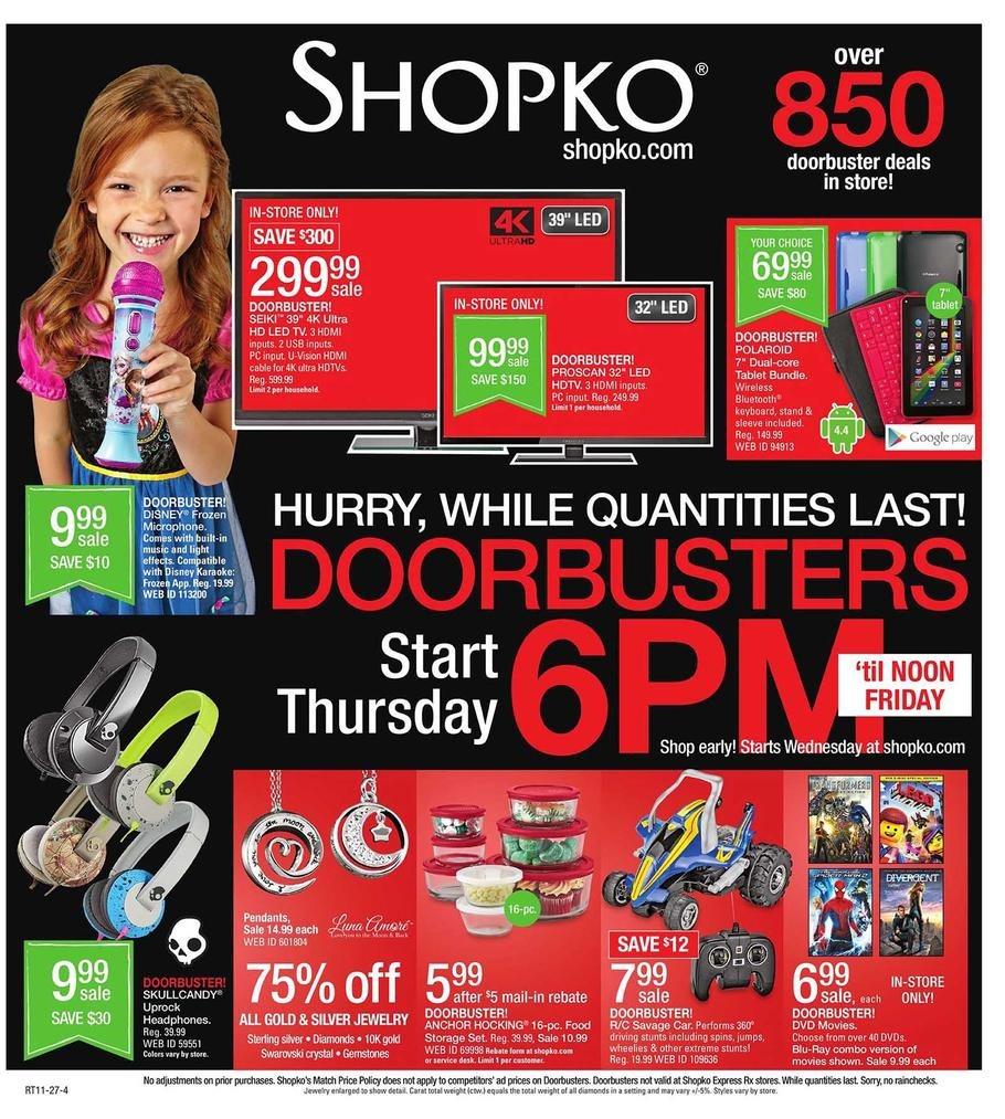 Shopko Black Friday Ad 2014 Pg 1