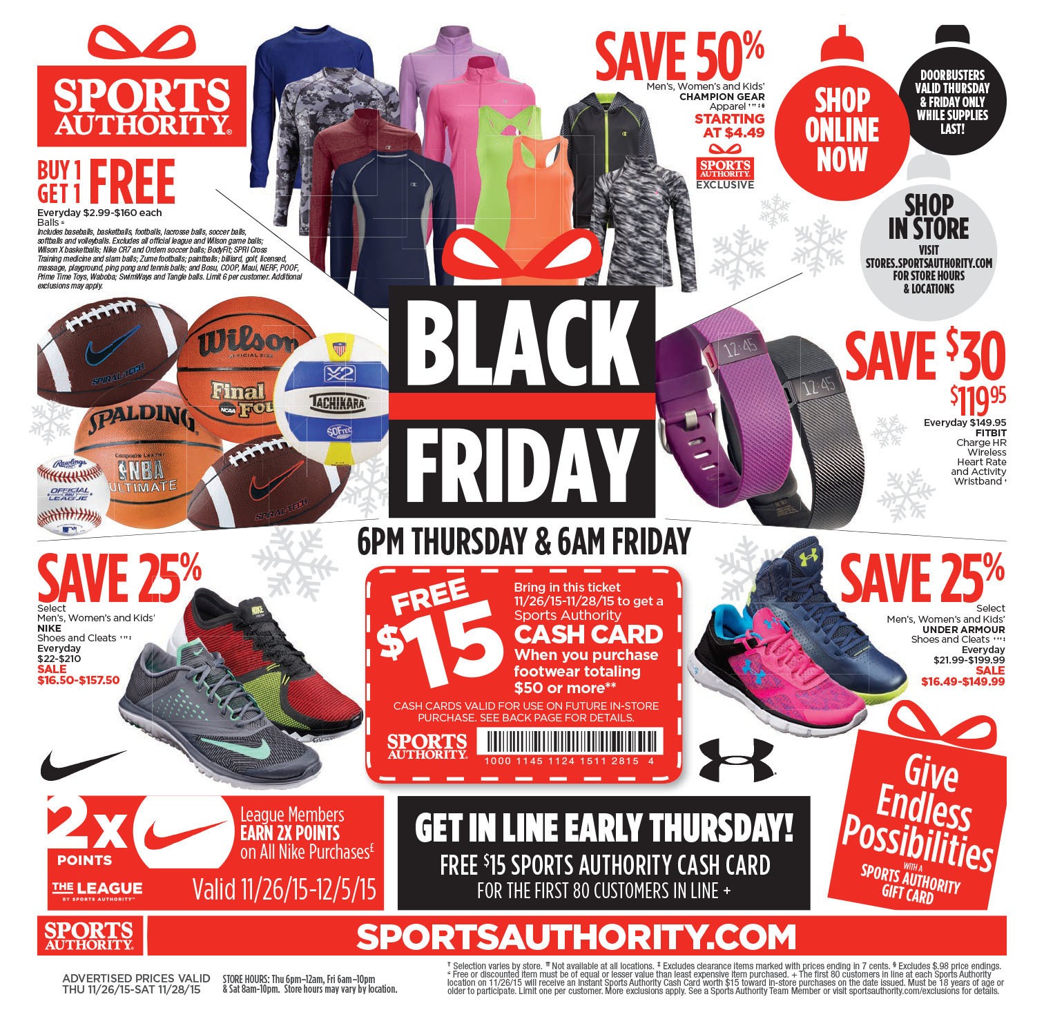 Sports Authority Black Friday 2015 Ad Page 1