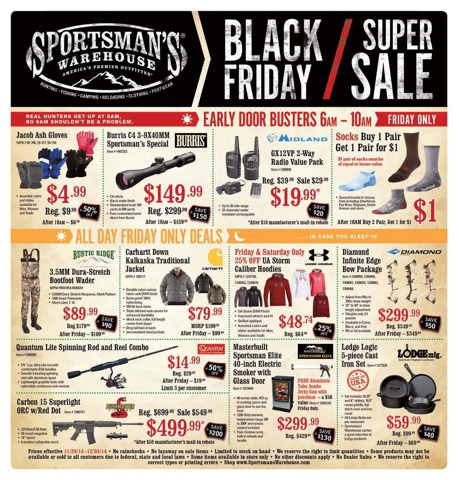 Sportsman's Warehouse Black Friday Ad 2014 Pg 1