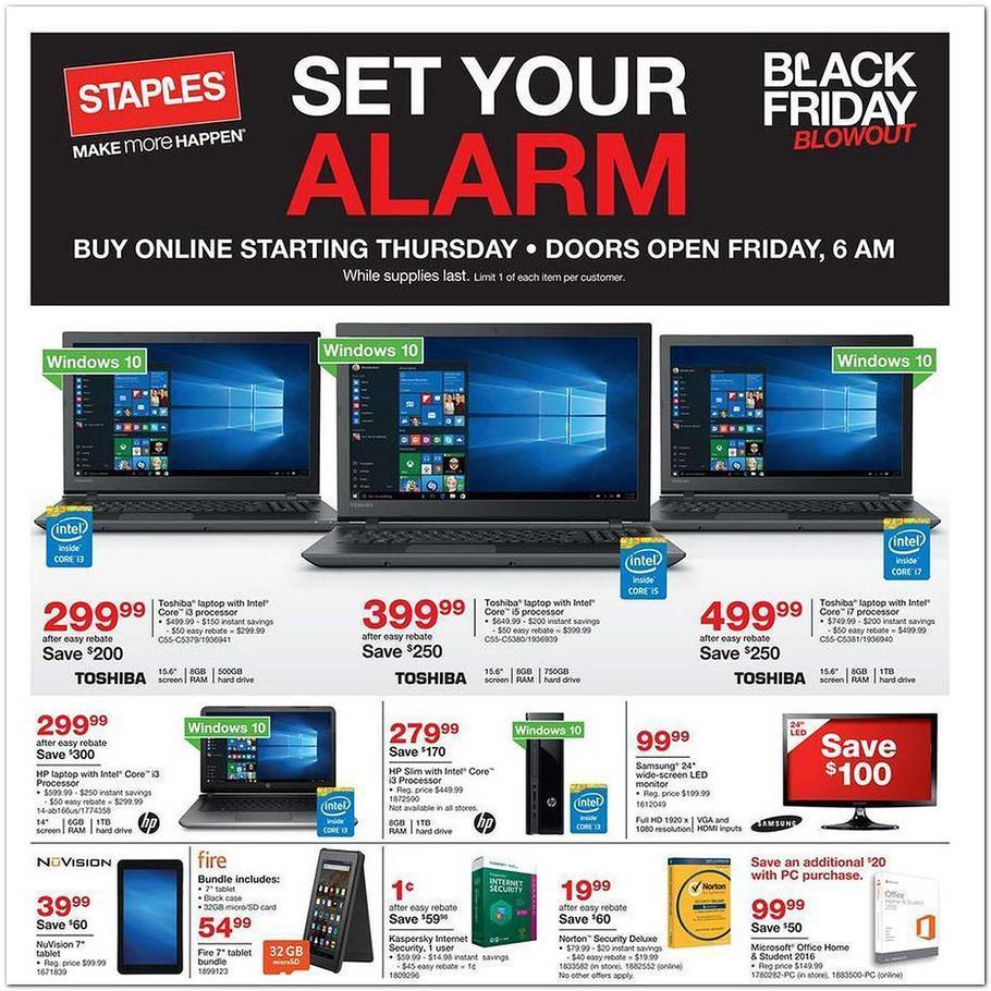 Staples Black Friday 2015 Ad Page 1