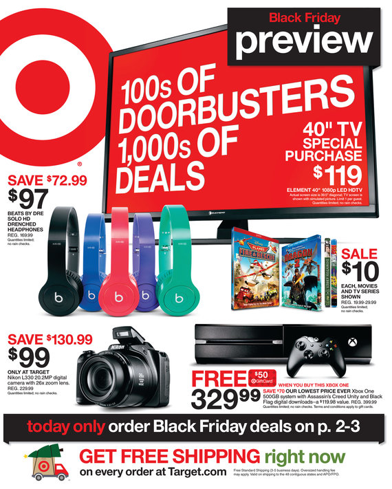 Target Black Friday Ad 2014 Preview Pg 1