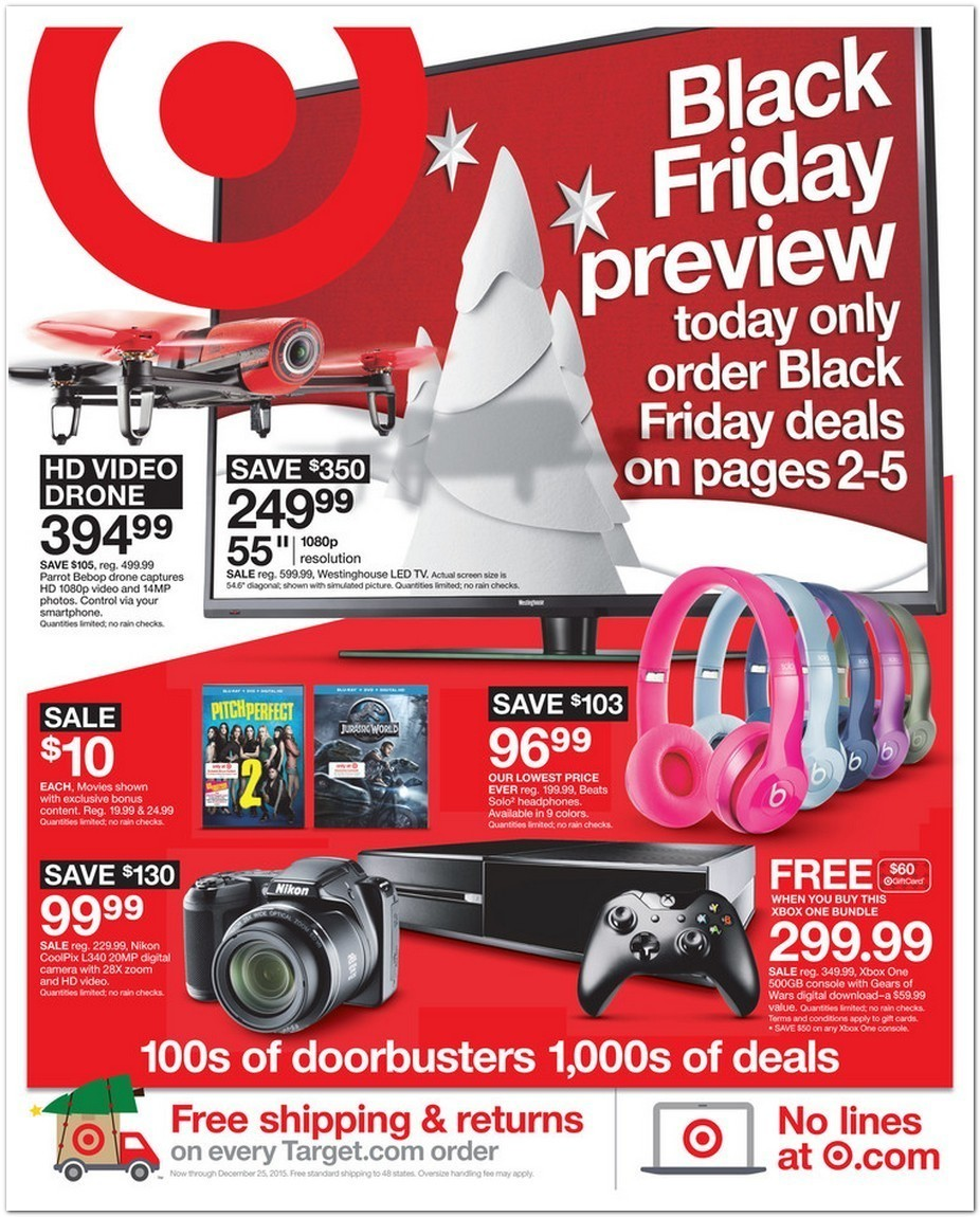 Target Black Friday 2015 Ad Page 1