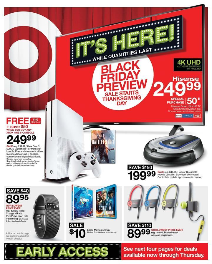 Target Black Friday 2016 Ad - Pg 1