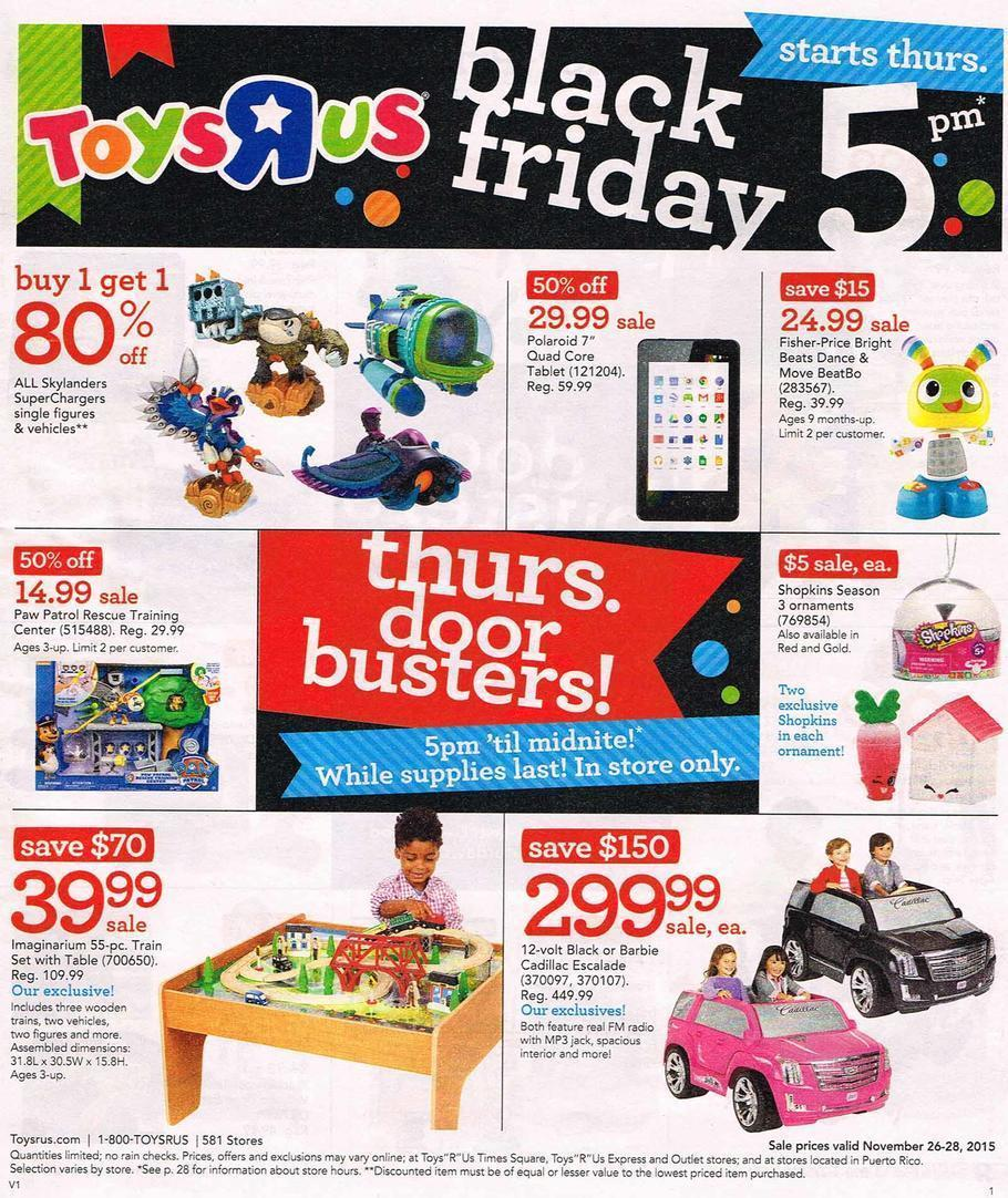 Toys R Us Black Friday 2015 Ad Page 1