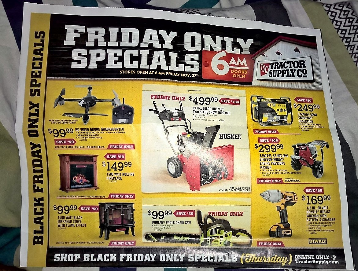 Tractor Supply Black Friday 2015 Ad Page 1