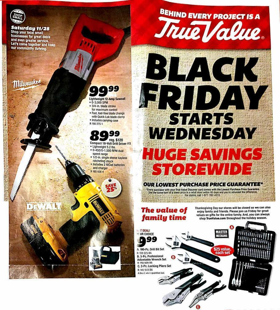 True Value Black Friday 2015 Ad Page 1