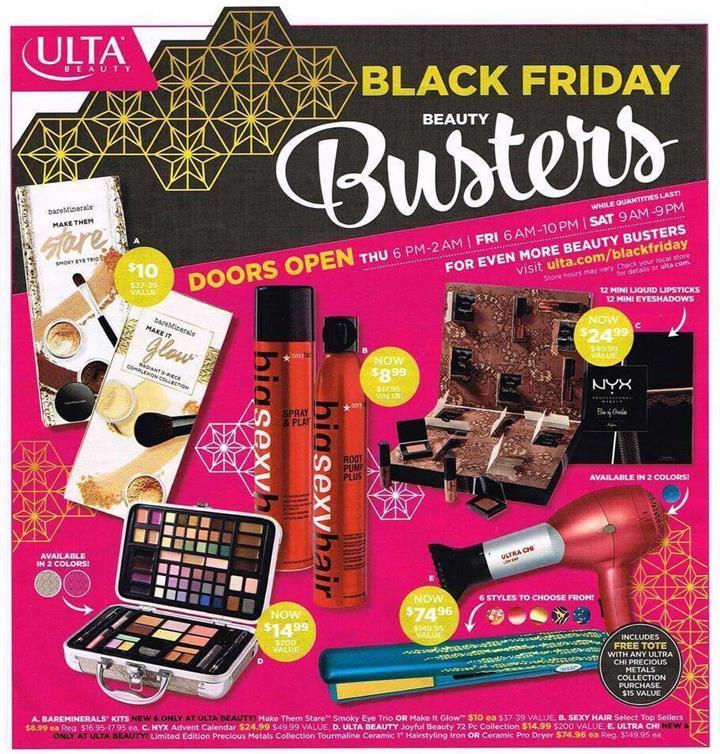 ULTA Black Friday Ad 2016 - Pg 1